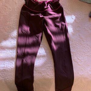 maroon lululemon leggings